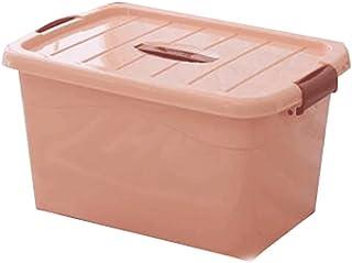 Lpiotyucwh Paniers et Boîtes De Rangement, Boîte de rangement de grande capacité avec poulies, boîte de rangement portabl...