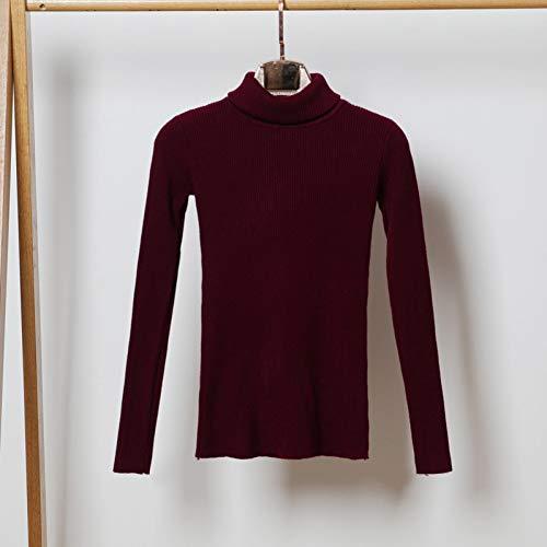 HUIWO Herbst Winter Warme Frauen Pullover Dicker Rollkragenpullover Pullover Mode Rippe Gestrickte Weibliche Pullover
