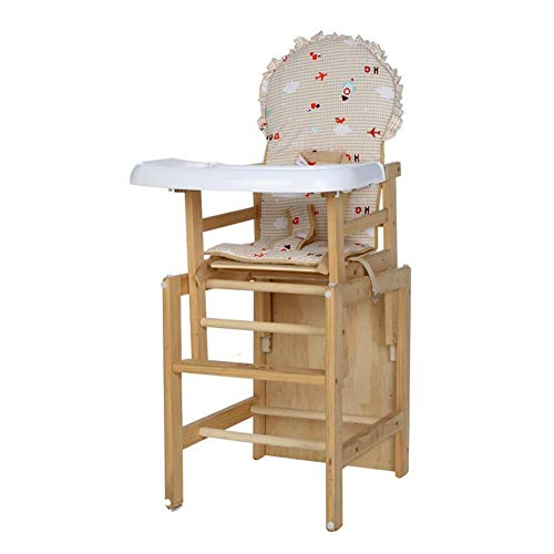 Why Should You Buy LQBDJPYS High Chair Wood Children's Dining Chair Baby Dinette Child Safety Chair,...
