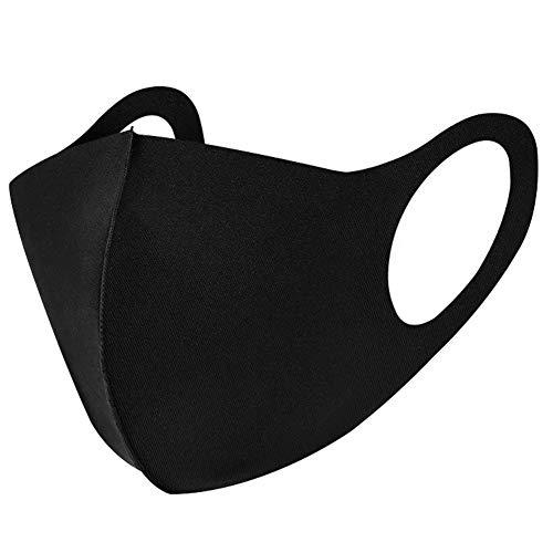Katoenen masker van ijszijde, wasbaar, ademende heren- en damesmaskers in de lente en zomer, zonnebrandmaskers van 6 stuks
