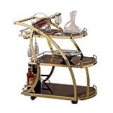 Küchentrolley mit Rädern Weingestell Home Bar Korb, Küchenschrank, Regal mit 3...
