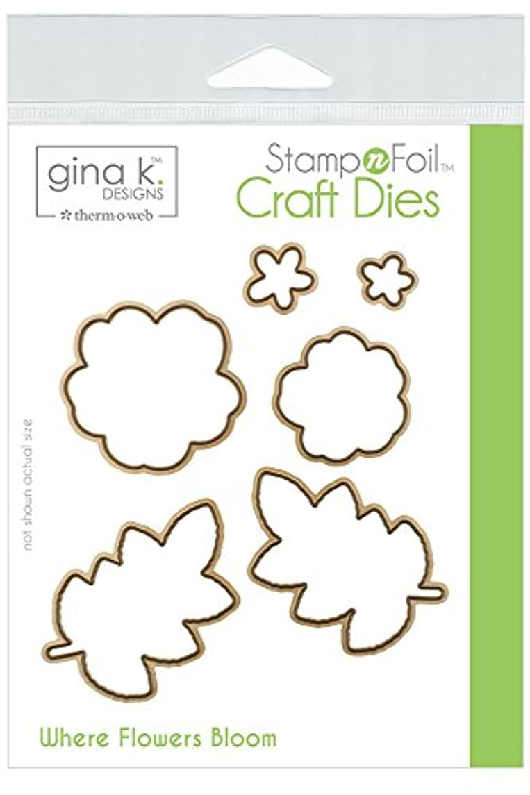 Gina K. Designs for Therm O Web StampnFoil Craft Dies, Where Where Flowers Bloom