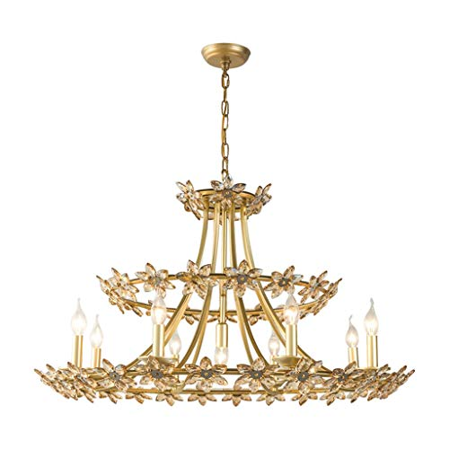 SHIJIE1701AA Chandelier Lighting Fixture Chandelier Living Room Lamp Bedroom Creative Petal Crystal Lamp Restaurant Lamp Light Luxury Lighting Ceiling Lamp