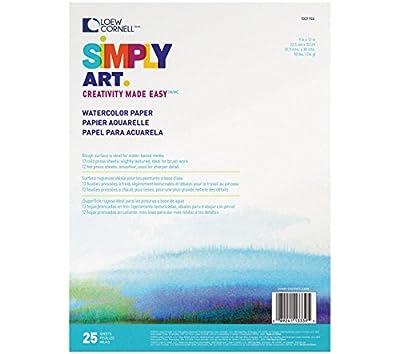 Loew Cornell 1021104 Simply Art Watercolor Pads