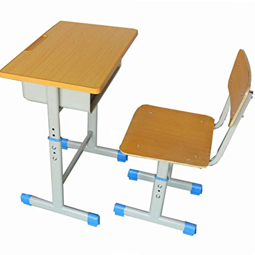 N/Z Daily Equipment Kids Desk and Chair Set Children Study Table Kids Student School Study Desk Table Work Station with Drawer Storage Children's Desk and Chair Set Ideal for Writing