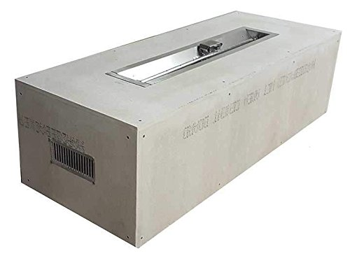 Amazing Deal Hearth Products Controls Rectangular Unfinished Gas Fire Pit Enclosure with Electronic ...