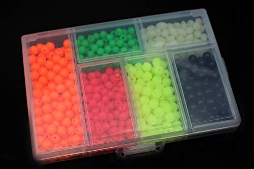 Tigofly 850 unids/caja de plástico de la pesca de los granos redondos y ovalados luminoso mar flotante señuelo aparejo de cebo