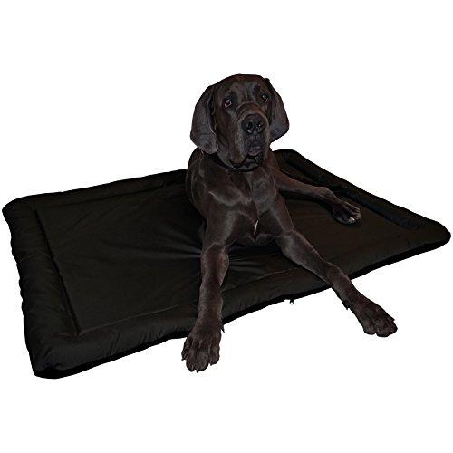 Wasserfestes In und Outdoor Hundebett Hundematte in schwarz/schwarz - Größe XL 95 x 64 cm