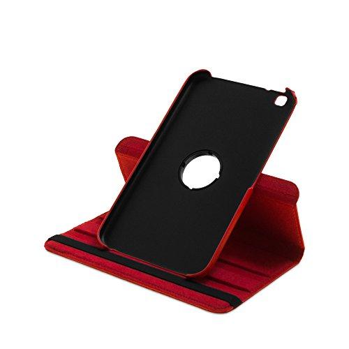 Drehbare Hülle mit Standfunktion für Samsung Galaxy Tab 3 8.0 in ROT mit automatischer Sleep- und Wake-Up-Funktion [passend für Modell SM-T310, SM-T311, SM-T315]