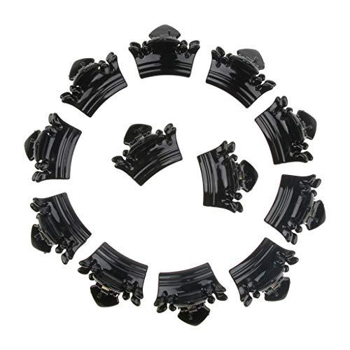 Generic Paquet De 12pcs Mini Pinces à Cheveux En Plastique Avec Pinces à Cheveux - Noir