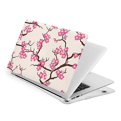 Cherry Blossom Snowflake Pink Yellow Laptop Cover Protective Case MacBook 13 Air is Suitable A1466 A1369 MacBook New Air13 is Suitable A1932. MacBook 15 Touch is Suitable A1707 A1990