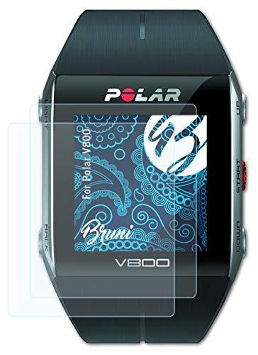 Bruni Schutzfolie kompatibel mit Polar V800 Folie, glasklare Bildschirmschutzfolie (2X)
