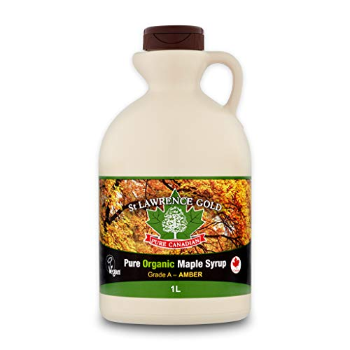 St Lawrence Gold Organic Maple Syrup Grade A Amber 1000ml