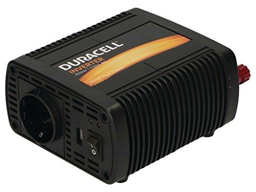 Duracell DRINV40-EU Single EU Socket Inverter 400 W DC 12 V to AC 230 V...
