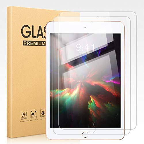 Pnakqil [2 Pack] Screen Protector for Apple iPad mini 4 / mini 5 Clear Tempered Glass Flim [Bubble-Free] [Anti-Scratch] Easy Installation Original Screen Protectors for Apple iPad mini 5 / mini 4