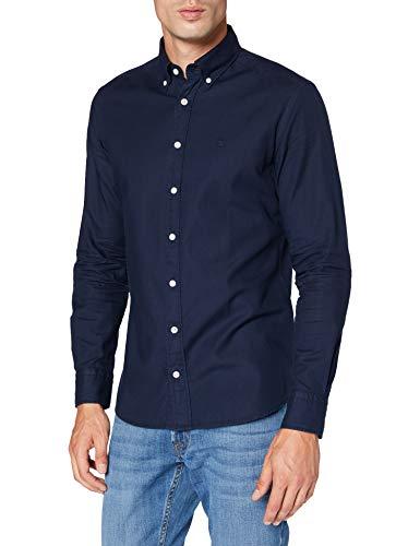 Hackett Herren Businesshemd Gmt Dye Oxf Kc, Blau (5poatlantic 5po), 40 (Herstellergröße: L)