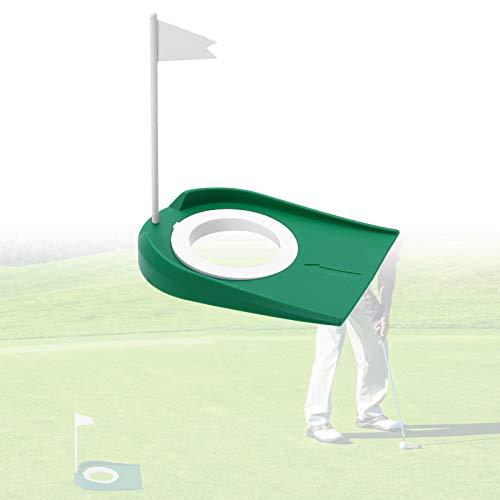 Yosoo Health Gear Taza de Golf con Banderas, práctica de práctica de Golf Ayuda en el Entrenamiento al Aire Libre en Interiores Putters de Golf