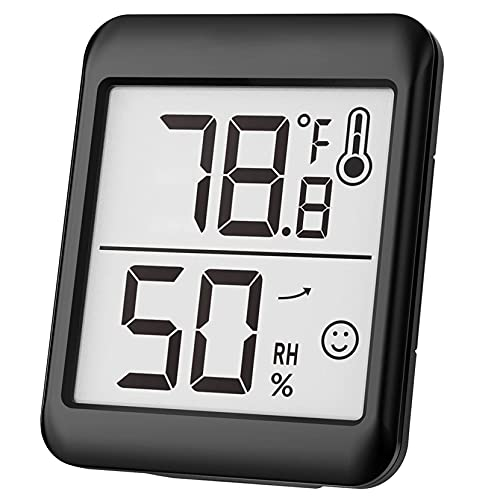 Thermometer Hygrometer, Indoor Room Thermometer Digital Hygrometer Humidity Meter, Temperature Monitor with High Accuracy, 2.3 Inch Large Display, 10S Refresh, 3 mounting Design