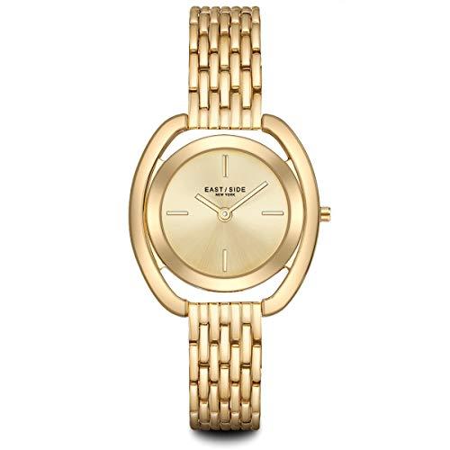 Eastside Damen Uhr analog Japanisches Quarzwerk mit Glieder Armband gelbgold 3 ATM 10080063