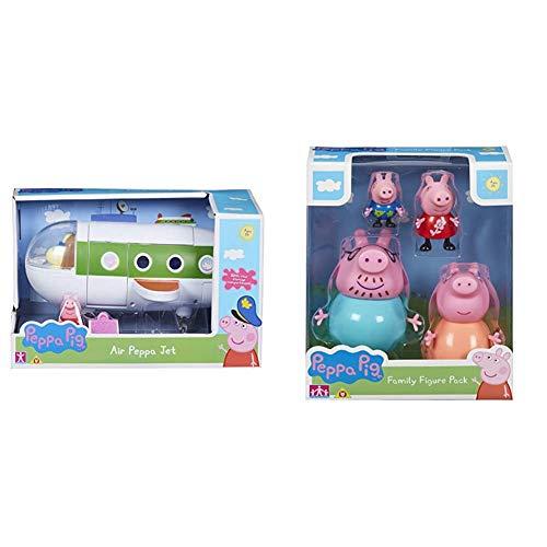Peppa Pig 06227 Air Peppa Jet Figure & 06666 Family Figures Pack