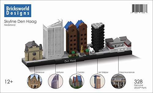 B.O.C. Bricksworld Architektur Skyline Den HAAG (NL) Module Rittersaal, Hofturm, Castalia, Den HAAG Turm & Palast Noordeinde. Zusammengestellt von original Lego® Neuteile.