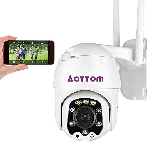 1080P Überwachungskamera Aussen, WLAN IP Kamera Outdoor Dome Kamera,...