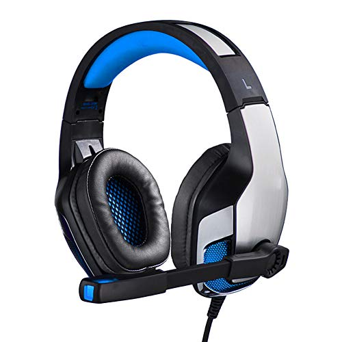 QWEDSA Headset E-Sports Headset, Casque de Jeu Vibrant pour Ordinateur, Contrôle du Volume du Microphone Flexible, Unité d'entraînement Subwoofer 50MM avec Microphone à Haute sensibilité.-2