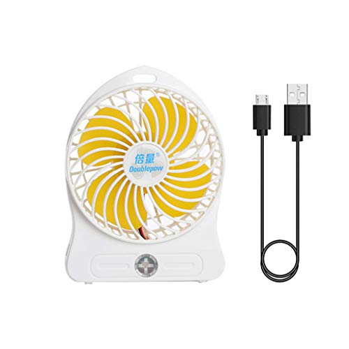 JumpXL 18650 - Ventilador portátil para Exteriores, Ventilador de Escritorio, Ventilador USB silencioso para Ordenador portátil, Cargador USB