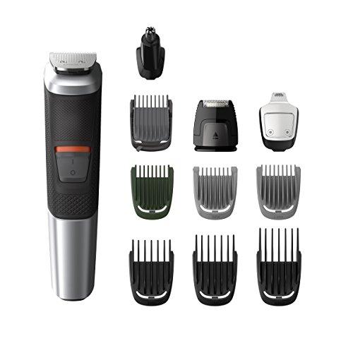 11 in 1 Haar- und Bartschneider, Multigroom Series 5000 MG5735/15, Schwarz/Silberfarben