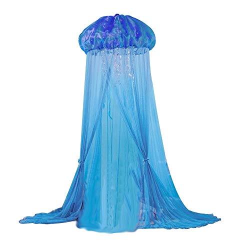 Mosquito baldacchino net Tenda misteriosa delle meduse, zanzariera del baldacchino del letto for i bambini che giocano con le tende della rete della cupola rotonda dei bambini zanzariera ad arco