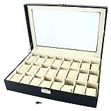 Homend 24 Slot PU Leather Watch Box/Watch Case/Jewelry Display Storage Organizer Box