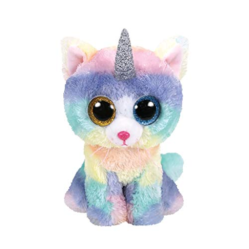 Ty TY36250 Beanie Boo\'s Heather el Gato Unicornio 15 cm