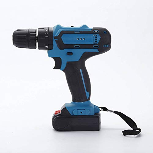 HOUSEHOLD Electric hand drill impact driver, lithium electric drill, multi-function hand drill, rechargeable electric screwdriver, built-in LED light, home/office