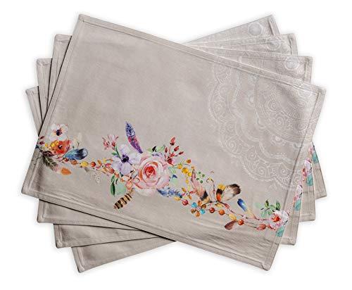 彩绘花漾餐垫 - 4件套