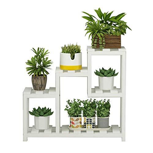 LY77 Bloemenplank Plant Stand Effen Hout Baai Raam dorpel Rekken Vlezige Kleine Multi-verhaal Indoor Space Balkon Decoratie Woonkamer Grootte 40x36cm