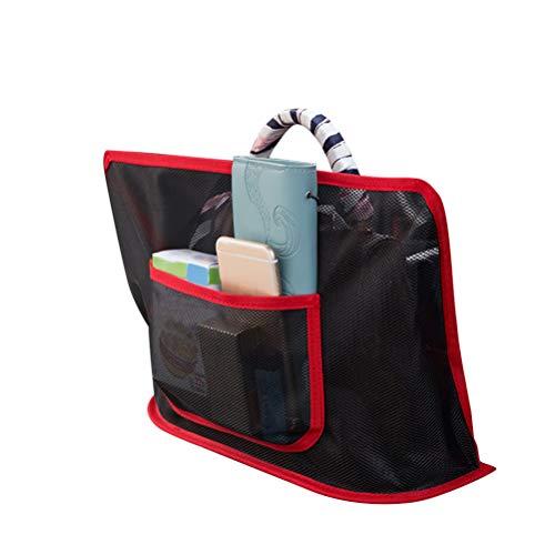 Bolsa de almacenamiento de red de coche, almacenamiento de asiento de coche y soporte para bolso de mano, para colgar organizadores entre los asientos traseros de la valla de coche para mascotas