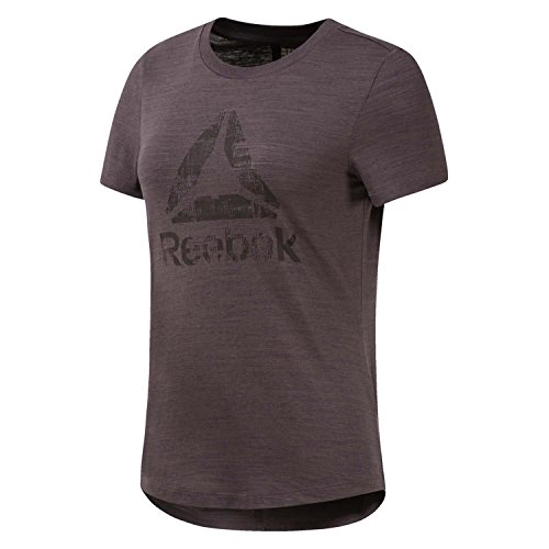 Reebok Te Marble Logo T-Shirt pour Femme XS Gris (Almost Grey)