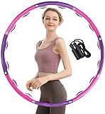 TTMOW Hula Hoop Fitness, Hula Hoop Adultos Professional con Mini Cinta Métrica,Ideal para Reducir Cintura y Adelgazar(1.1kg (Blanca&Rosa)
