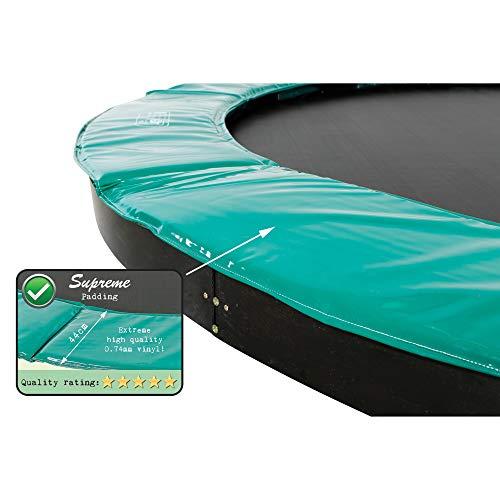 EXIT Supreme Bodentrampolin ø305cm - grün