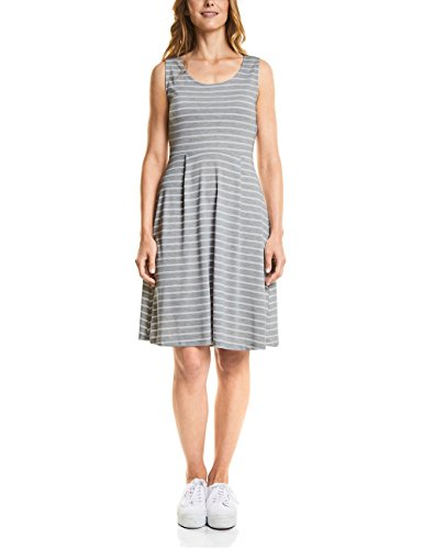 Street One Damen 140690 Kleid, Mehrfarbig (Shiny Grey Melange 21339), 38