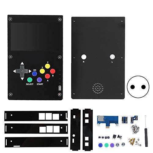4,3-Zoll-IPS-Bildschirm Handheld-Spielekonsole für Raspberry Pi 3B + / 4B Onboard-Lautsprecher und Kopfhörerloch, damit Sie vertraute Hintergrundmusik hören können(EU)