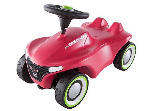 BIG-Bobby-Car-Neo Pink - Rutschfahrzeug für drinnen und draußen, Kinderfahrzeug mit Flüsterreifen im modernen Design, für Kinder ab 1 Jahr