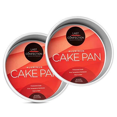 Last Confection 2-Piece Round Cake Pan Set - 8' x 2' Deep Aluminum Pans