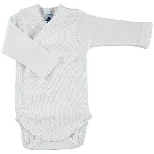 BABIDU Body Cruzado Basico Interlock, Blanco (Blanco 01), 56/62 (Tamaño del Fabricante: 1 Mes) Unisex bebé