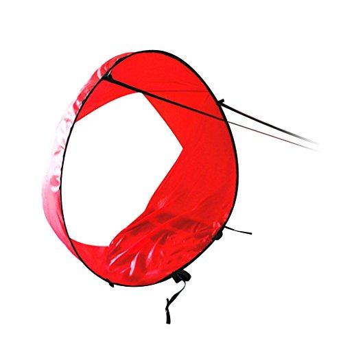 Vela de Viento con Ventana Clara Kayak Wind Sail, Vela para Kayak, para Kayak, Canoa, Inflables, Tándems y Barcos de Expedición - Rojo