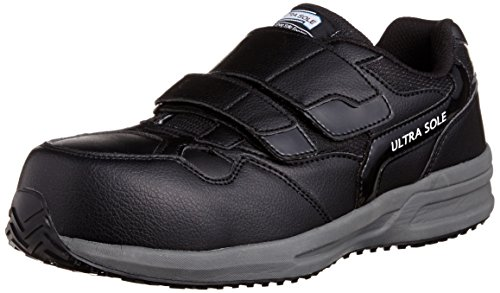 [マルゴ] 安全靴 作業靴 樹脂製先芯 耐油 耐滑 踵衝撃吸収 JSAA A種 4E ウルトラソール 141 BK/GY 23.5 cm