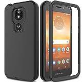 AMENQ Motorola E5 Supra case, Moto E5 Plus Case 3 in 1 Hybrid Heavy Duty Shockproof with Rugged Hard PC and TPU Bumper Protective Armor Phone Cover for Motorola Moto E Plus (5th Gen) 2018 (Black)