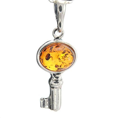 Bernstein-Set Naturbernstein Himmlische Schlüssel Anhänger in Juwelierqualität #a637