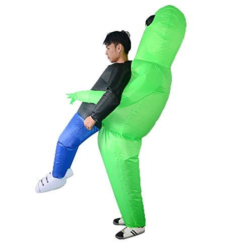 Opblaasbare Costume Green Alien Cosplay Costume Volwassenen Mannen Vrouwen Alien Kostuum, Halloween Cosplay prestatiessteunen Big Fat Fun Fantasy Kostuums