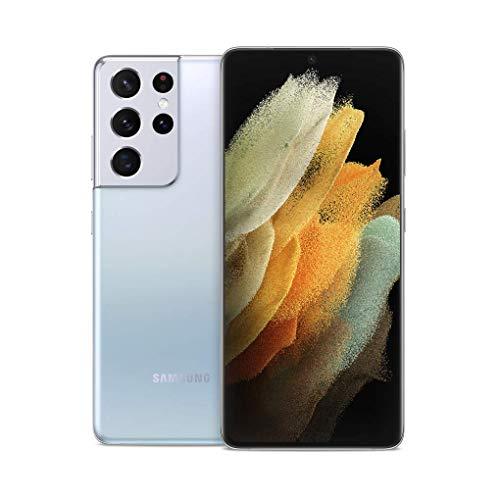 Samsung Galaxy S21 Ultra 5G, US Version, 128GB, Phantom Silver - Unlocked (Renewed)